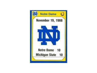 Autograph Warehouse 91259 1966 Michigan State Football Card Notre Dame 1990 Collegiate Collection No. 187