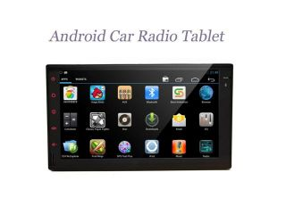 Car Tablet PC Android 4.2.2 Jelly Bean Car Radio None DVD Player 6.2 inch Double Din In Dash Capacitive HD Multi Touch Screen GPS Navigation Radio Stereo Support Bluetooth/SD/USB/Ipod/I