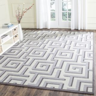 Safavieh Indoor/ Outdoor Hand Hooked Four Seasons Ivory/ Grey Rug (5