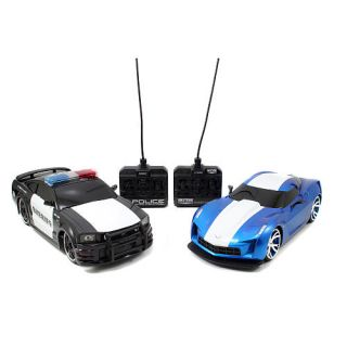 Jada Toys Badge City Heat 116 Scale Remote Controll Car Twin Pack   2006 Ford Mustang vs. 2009 Corvette Stingray    Jada Toys, Inc.