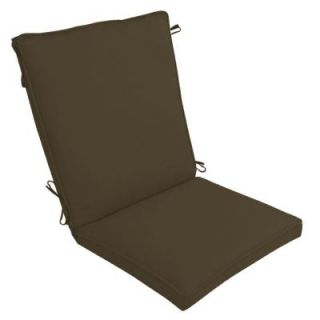 Hampton Bay Brown Texture Outdoor Dining Chair Cushion FC01271B 9D5