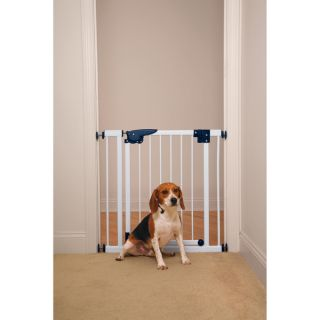 Pet Studio Pressure Mounted White Gate   Shopping   The Best