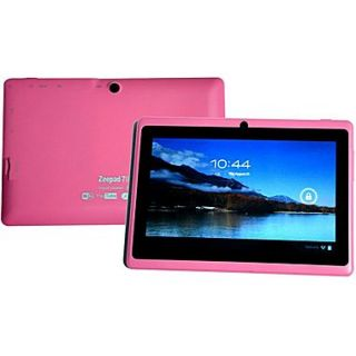 Worryfree Gadgets Zeepad 7DRK Rock, 7 Tablet, 8 GB, Android Jelly Bean, Wi Fi, Pink