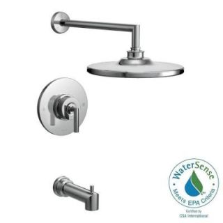 MOEN Arris Posi Temp Single Handle 1 Spray Eco Performance Tub and Shower Faucet Trim Kit in Chrome (Valve Sold Separately) TS22003EP