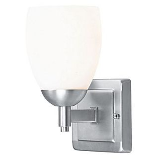 Livex Lighting Bloomfield 1 Light Wall Sconce; Brushed Nickel
