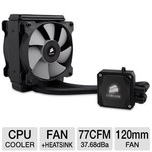 Corsair   Hydro Series H80i Extreme Liquid/Water CPU Cooler   2 x 120mm Fan, 2700RPM, 77CFM, 37.68dBA, Multi Socket Support, Built in Corsair Link   CW 9060008 WW