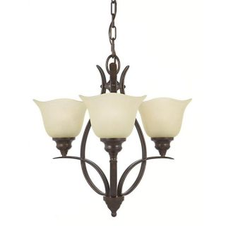 Morningside 3 light Grecian bronze Indoor Chandelier   15851906