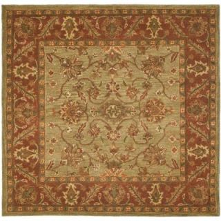 Safavieh Golden Jaipur Green/Rust 6 ft. x 6 ft. Square Area Rug GJ250A 6SQ