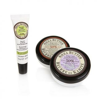 Perlier 1 oz. Shea Butter Body Butter Duo and Lip Balm   7555946