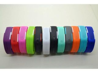 2015 New Fashion Candy Color Men Women Intelligent LED Sports Silicone Bracelet Wrist Watch Water Proof For Couples 12 Colors