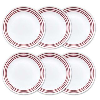 Corelle Livingware Ruby Red Lunch Plates (Set of 6)   18643249