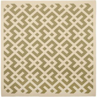 Safavieh Indoor/ Outdoor Courtyard Green/ Bone Rug (53 Square