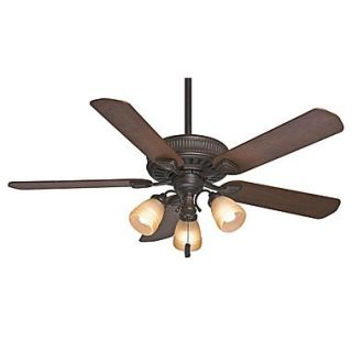 Casablanca Fan 54 Ainsworth Gallery 5 Blade Fan; Onyx Bengal w/Distressed /Dark Walnut Blades