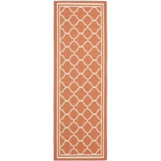 Safavieh Indoor/ Outdoor Courtyard Terracotta/ Bone Rug (23 x 8