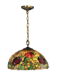 Dale Tiffany TH13112 Antique Brass Pendant Light