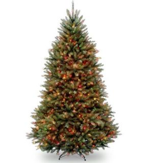 National Tree Pre Lit 7 1/2' Dunhill Fir Hinged Artificial Christmas Tree with 750 Multi Lights