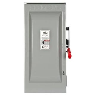 Siemens Heavy Duty 100 Amp 600 Volt 3 Pole Outdoor Fusible Safety Switch HF363R