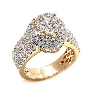 Diamond Couture 14K Yellow Gold 2ctw Diamond Pear Shaped Ring   8009928