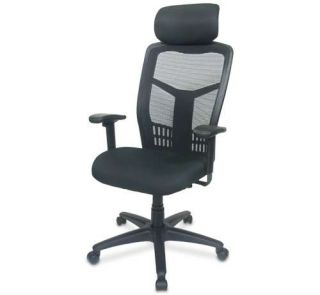Interion Multifunction Web Mesh Office Chair   3.5 Comfort Cushion, Highback, Separate Back/Seat Angle & Height Adjust, Arm Rests with Headrest   I92 40876
