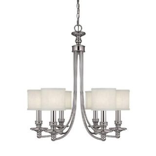 Capital Lighting Midtown Collection 6 light Polished Nickel Chandelier