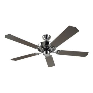 Sea Gull Lighting Quality Max 52 in Chrome Downrod or Close Mount Indoor Ceiling Fan (5 Blade) ENERGY STAR