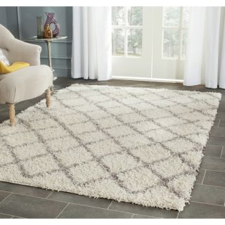 Safavieh Dallas Shag Ivory/ Grey Rug (4 x 6)   16767587