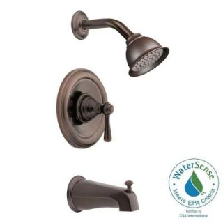 MOEN Kingsley Posi Temp 1 Handle Tub and Shower with Moenflo XL Eco Performance Trim Kit with Showerhead in Oil Rubbed Bronze T2113EPORB