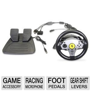 Thrustmaster Ferrari Universal 5 in 1 Racing Wheel   Compatible with  PlayStation 2, PlayStation 3, Nintendo GameCube, Nintendo Wii and PC, Foot Pedals, Gear Shift Levers