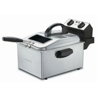 Waring DF250B Deep Fryer   1 gal Oil / 2.20 lb Food   Stainless Steel