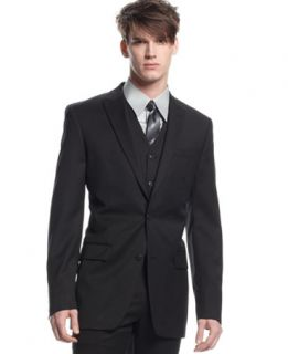 Bar III Black Solid Slim Fit Jacket   Suits & Suit Separates   Men