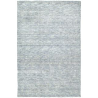 Gabbeh Hand tufted Light Blue Rug (5 x 76)   15682376