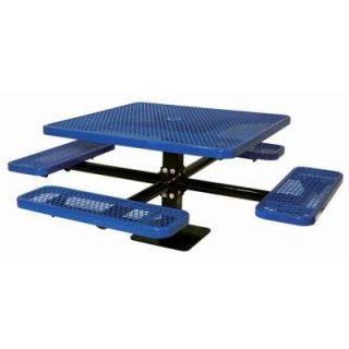 Ultra Play 46 in. Diamond Blue Commercial Park Surface Mount Square Table PBK338SM VB