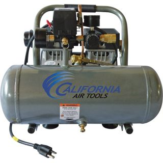 California Air Tools Ultra Quiet, Oil-Free Air Compressor — 1 HP, 1.6-Gallon, Model# 1610A