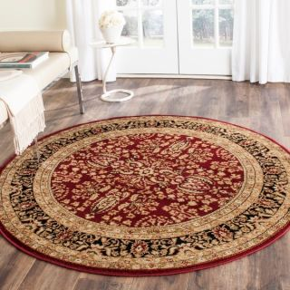Safavieh Lyndhurst Collection Persian Treasure Red/ Black Rug (5 3