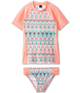 Hurley Kids Phoenix Surf Shirt Set Big Kids Pink, Pink