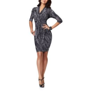 Miss Tina   Women's Gathered Jersey Dress