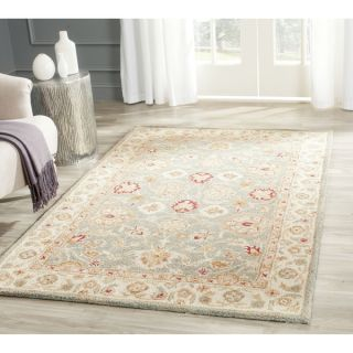 Safavieh Handmade Antiquity Blue grey/ Beige Wool Rug (2 x 3