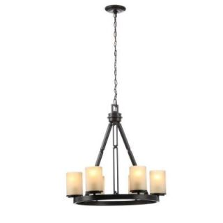 Hampton Bay Alta Loma 6 Light Bronze Dark Ridge Chandelier 27055