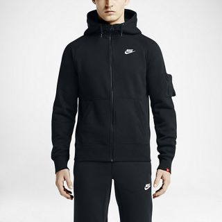 Nike AW77 Fleece Full Zip Mens Hoodie