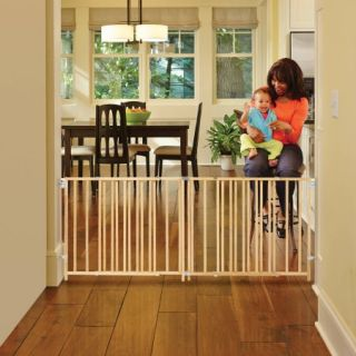 North States   Extra Wide Wooden Swing Gate