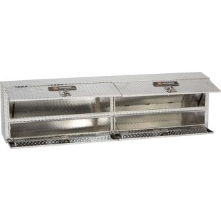 Aluminum Rail Top Truck Box — Diamond Plate, 90in.L x 12in.W x 22 1/2in.H  Rail Top Boxes