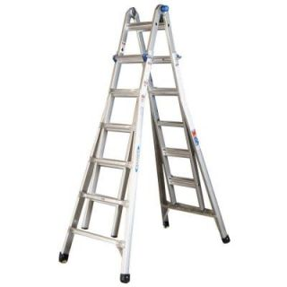 Werner 26 ft. Aluminum Telescoping Multi Position Ladder with 300 lb. Load Capacity Type IA Duty Rating MT 26