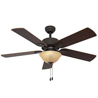 Emerson Fans 3 Light Bowl Ceiling Fan Light Kit; Amber Mist