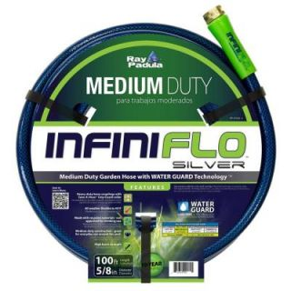 Ray Padula InfiniFlo Silver 5/8 in. Dia x 100 ft. Medium Duty Garden Hose RP IFMD 2