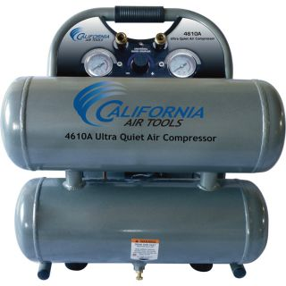 California Air Tools Ultra Quiet, Oil-Free Air Compressor — 1 HP, 4.6-Gallon, Model# 4610A
