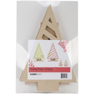 Beyond The Page MDF Funky Trees 2/Pkg 13X8.5X2.75   16658828