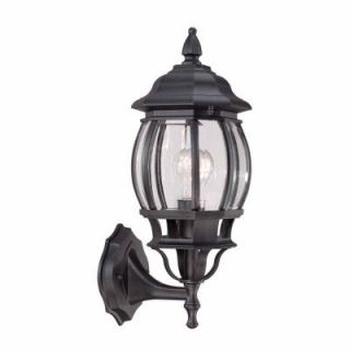 Hampton Bay 1 Light Black Outdoor Wall Lantern HB7027 05
