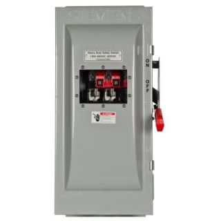 Siemens Heavy Duty 100 Amp 600 Volt 3 Pole type 12 Fusible Safety Switch with Window HF363JW