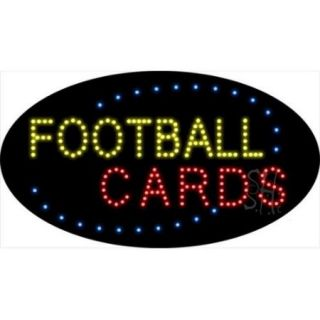Sign Store L100 2004 Football Cards Animated LED Sign, 27 x 15 x 1 inch