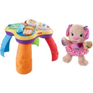 Fisher Price Laugh & Learn Puppy & Friends Learning Table with Love to Play Sis